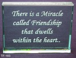 There is a miracle called friendship